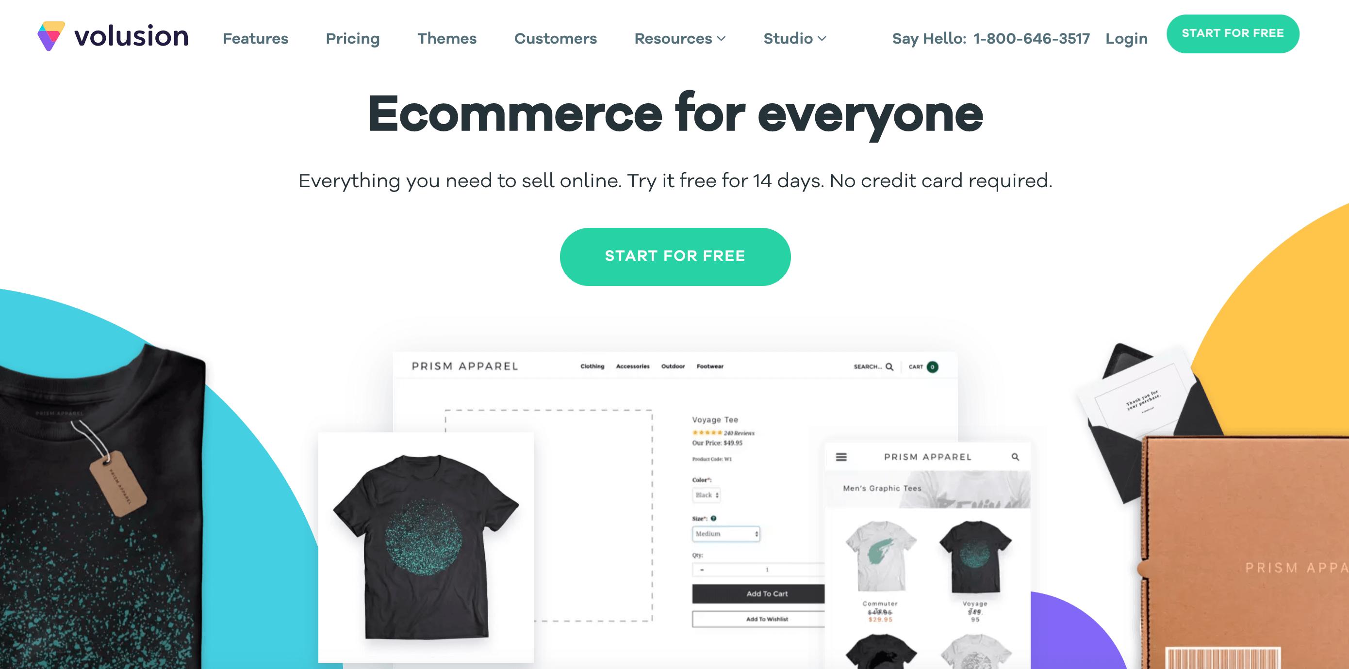 Volusion paid ecommerce platform