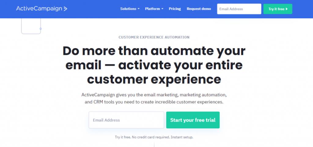 ActiveCampaign ecommerce email marketing platform