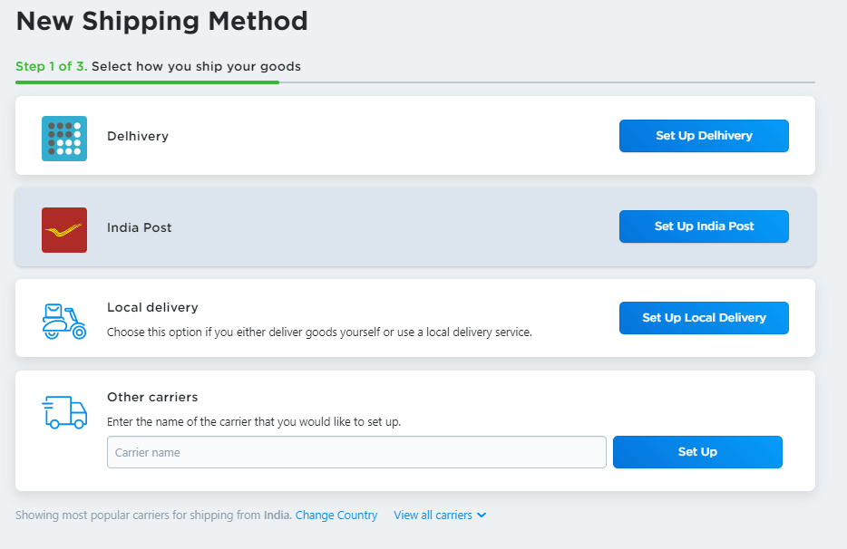 Add Shipping Method