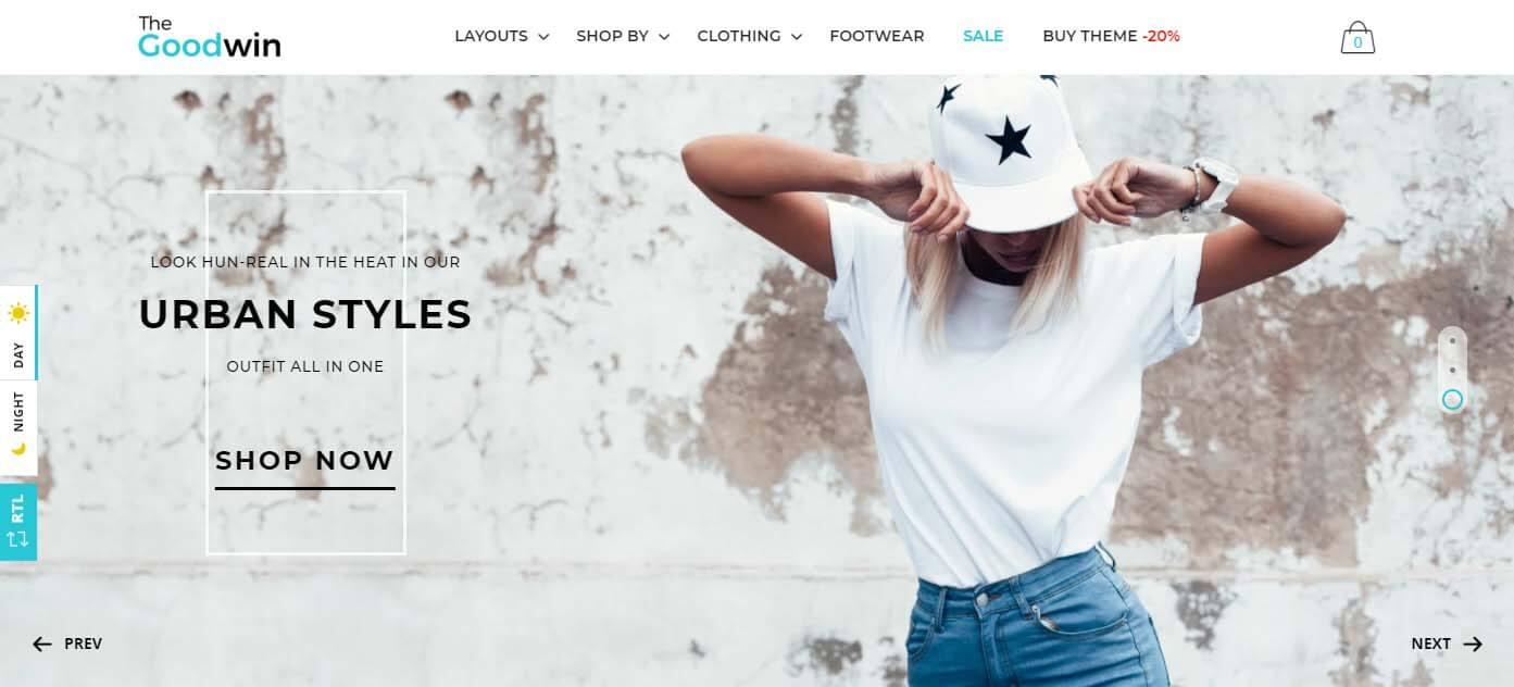 Goodwin Shopify clothing Theme