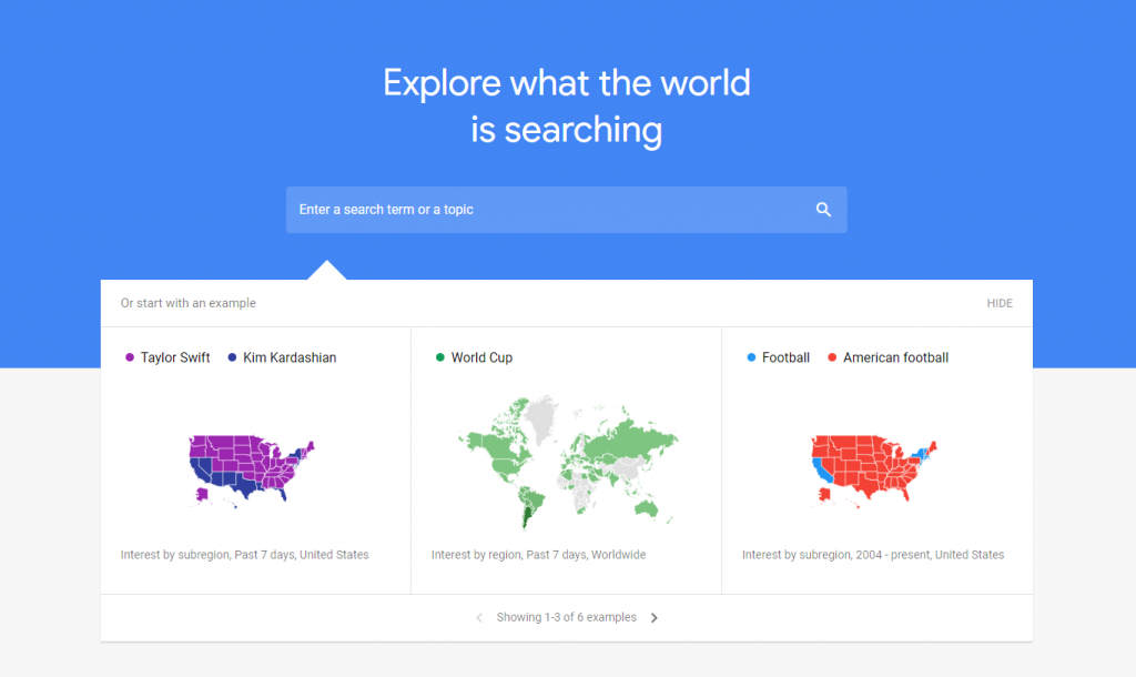 Use Google Trends to stay updated with Ecommerce news and updates