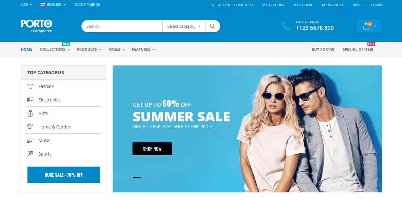 Porto - Popular Shopify Theme