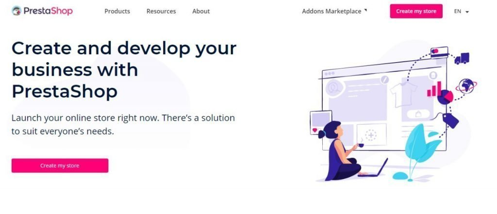 PrestaShop Free Ecommerce Platform