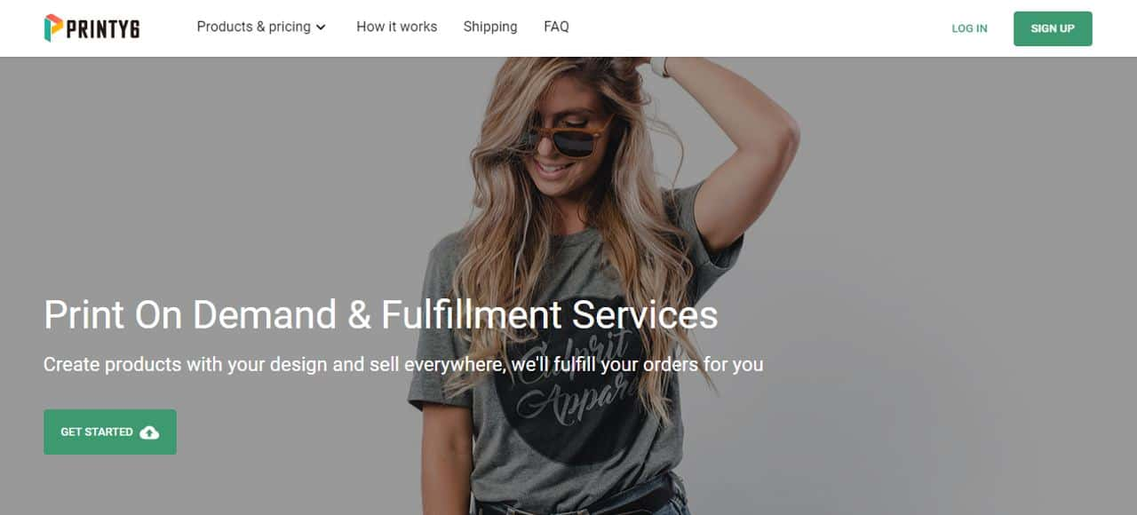 Printy6 print on demand app for shopify