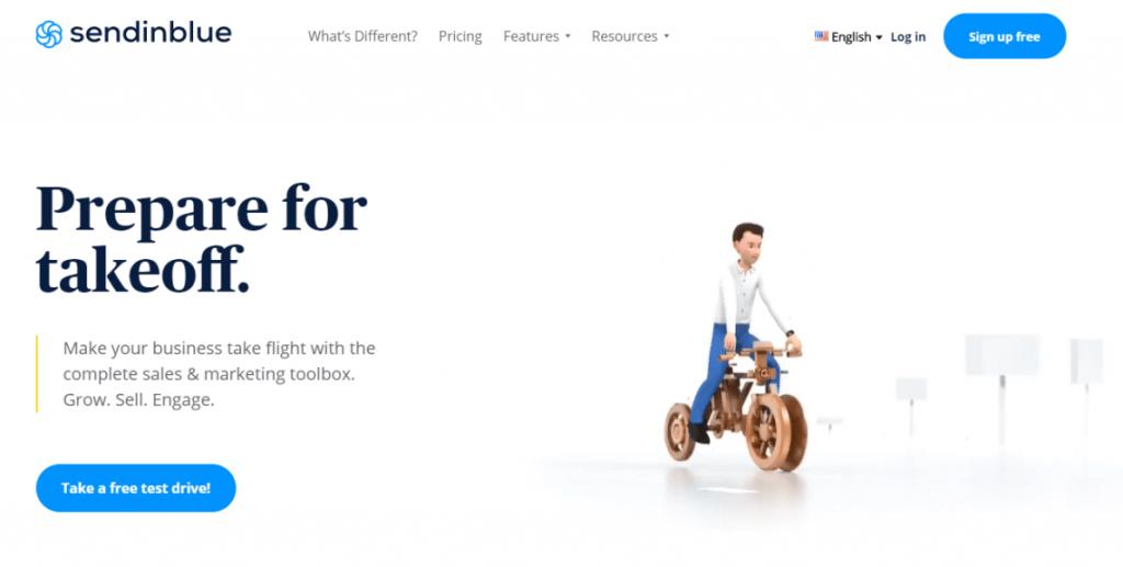 Sendinblue email marketing software for eCommerce