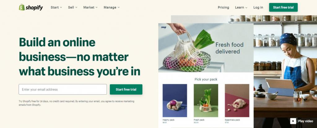 Shopify ecommerce platform for artists
