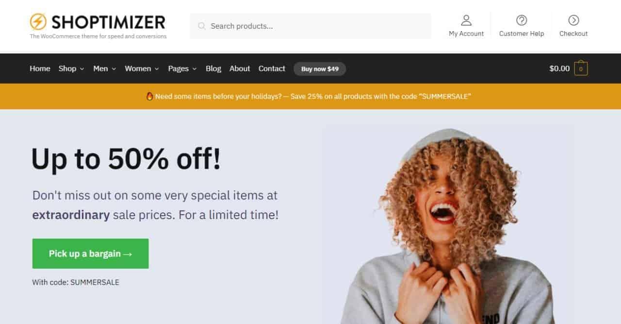Shoptimizer WordPress Ecommerce Theme