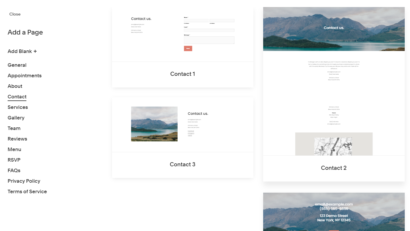 Add a page to your Squarespace site