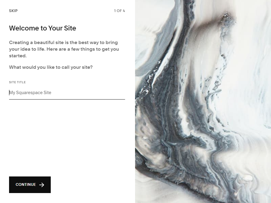 Add title of your Squarespace site
