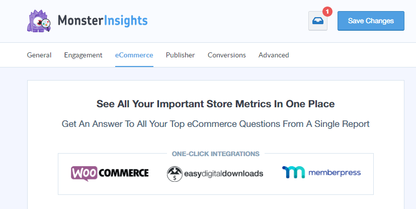 Use MonsterInsights to connect Google Analytics