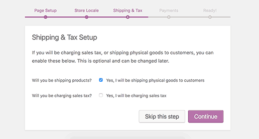 Woocommerce store tax and shipping setup