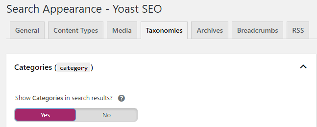Yoast Taxonomy page SEO setting