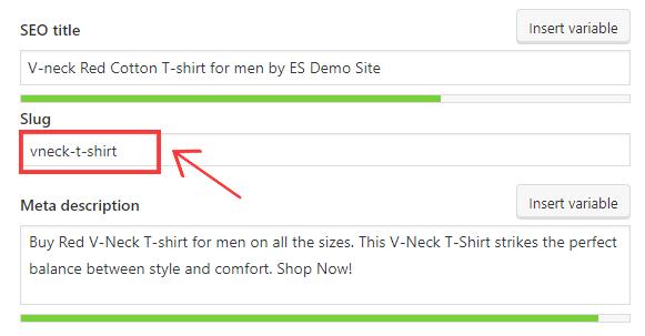 updated WooCommerce Product slug