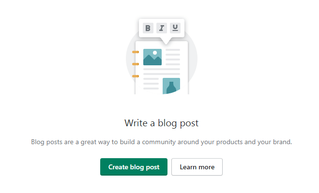Create a Blog on Shopify Store