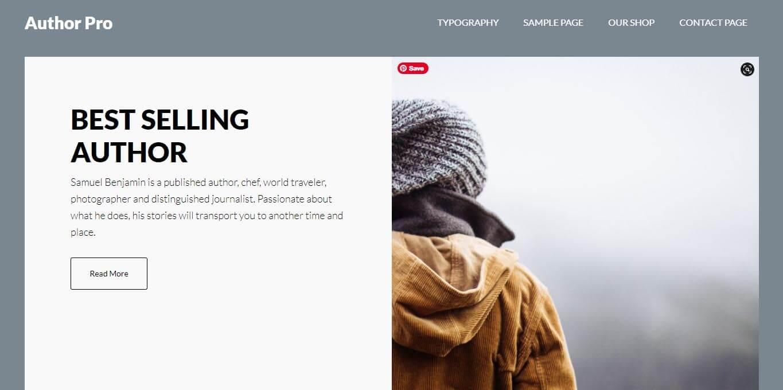 Author-Pro WordPress Theme to sell ebooks