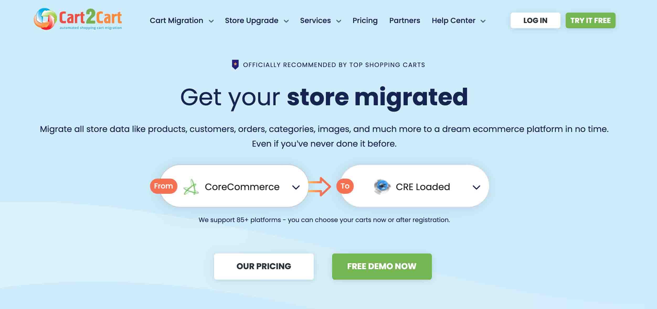 Cart2Cart Shopping Cart Migration Tools