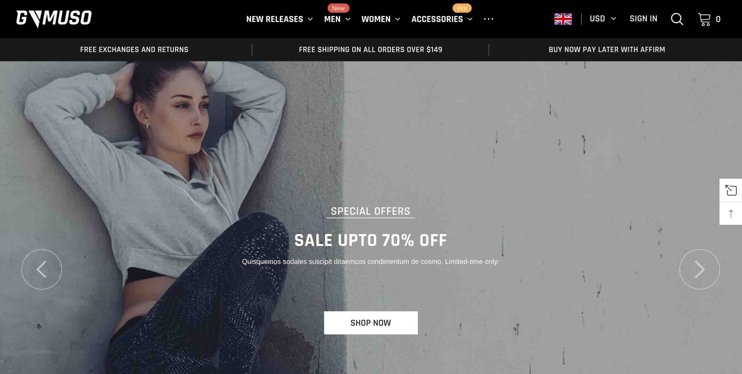 Ella Shopify Theme for clothing store
