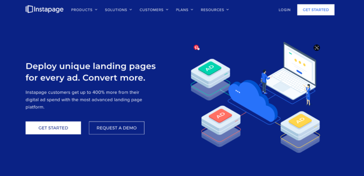 Instapage Landing page builder for eCommerce