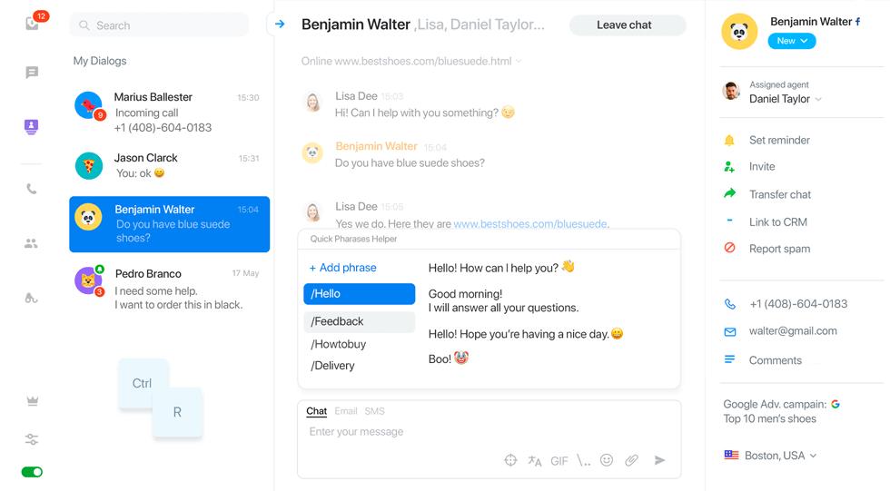 JivoChat Shopify customer service app