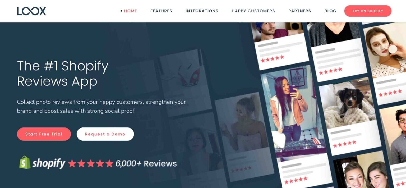 Loox Shopify review app