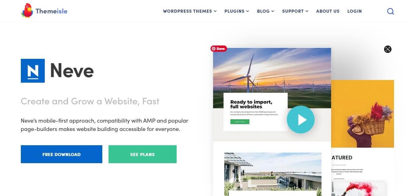 Neve WordPress Theme to sell ebooks