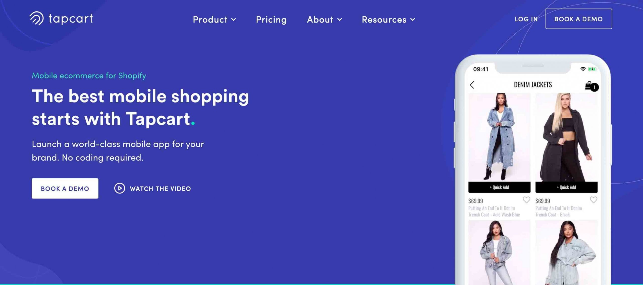Tapcart Shopify Mobile App Builder