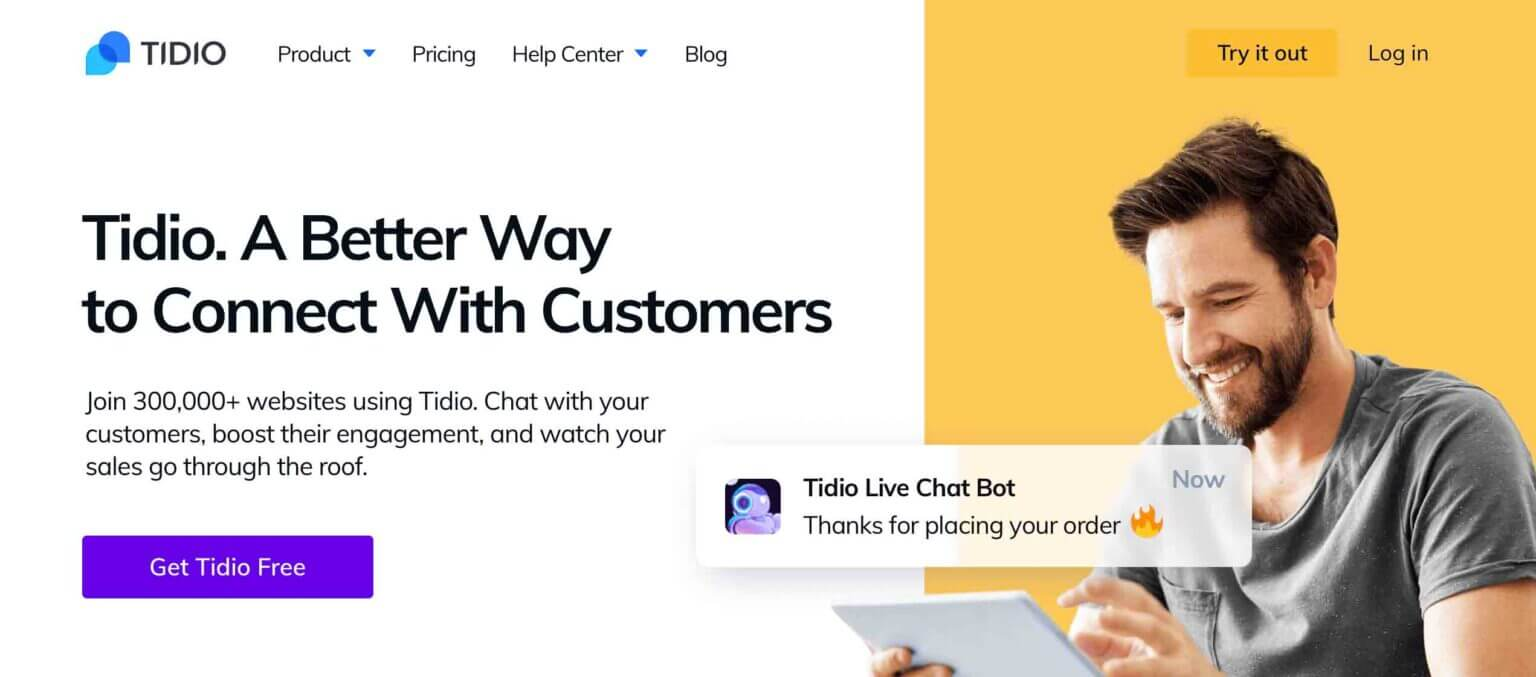 Tidio live chat software for eCommerce