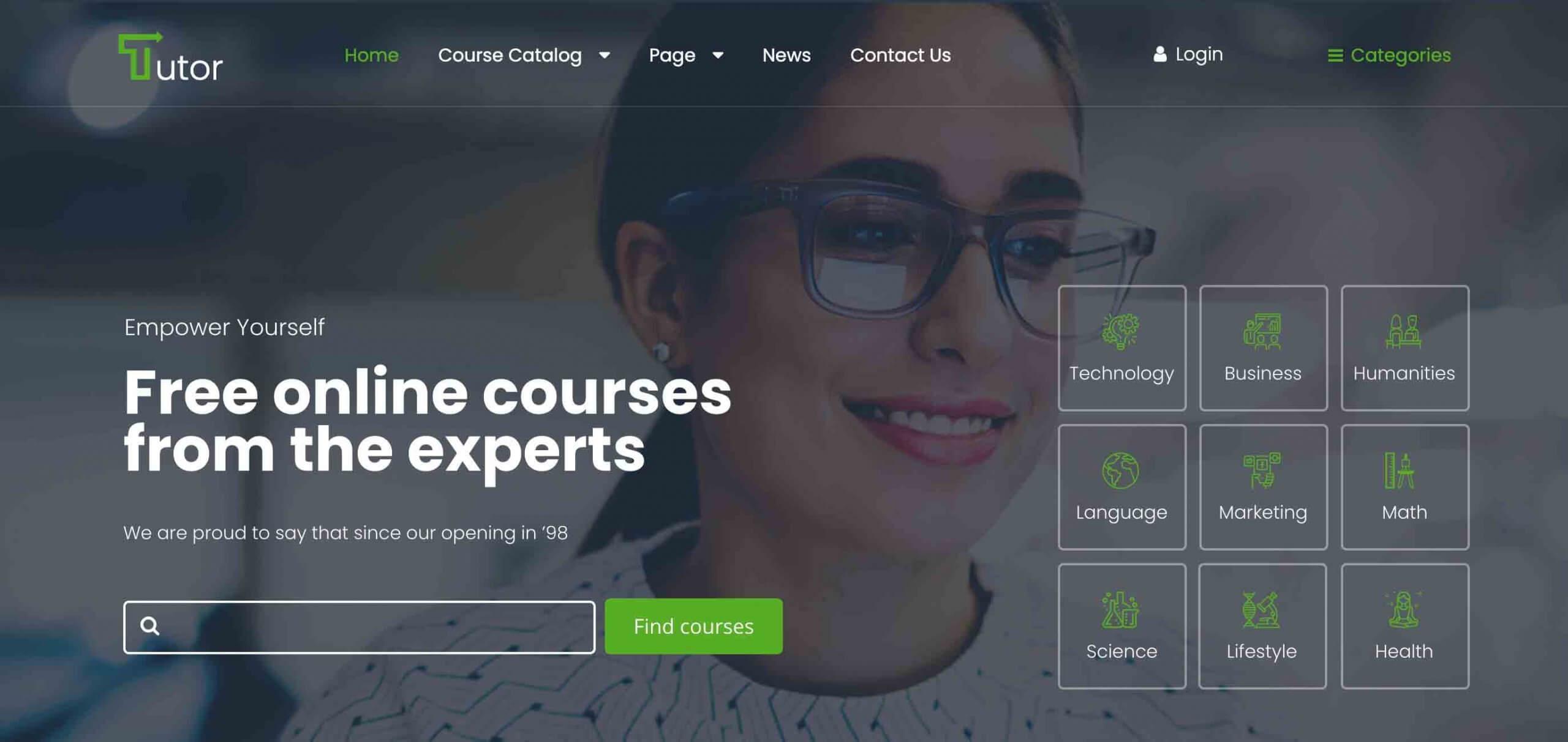 Tutor Online Education WordPress Theme