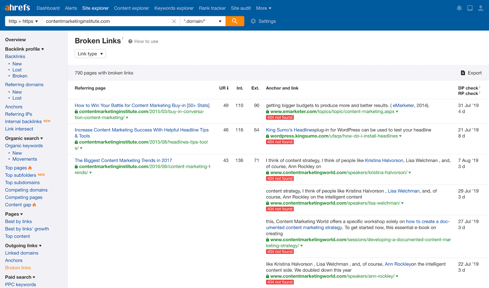 eCommerce SEO Checklist - Remove broken links