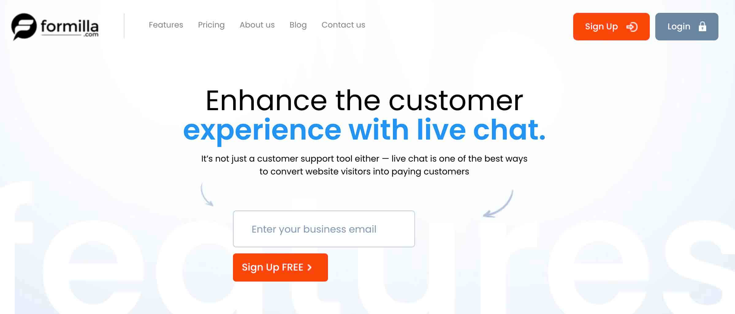 Formilla Shopify Live chat app
