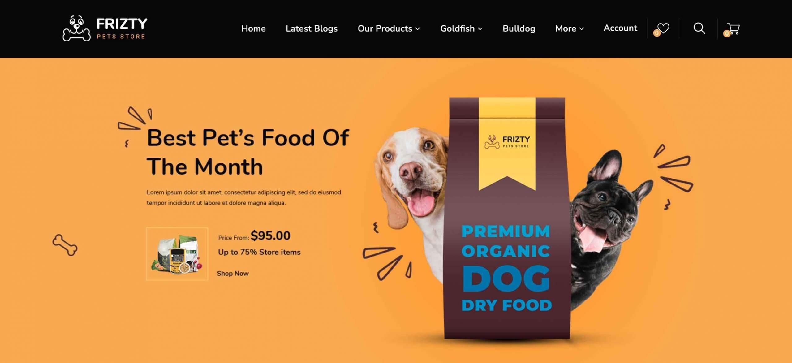 Frizty – Pet Food Store OpenCart Theme