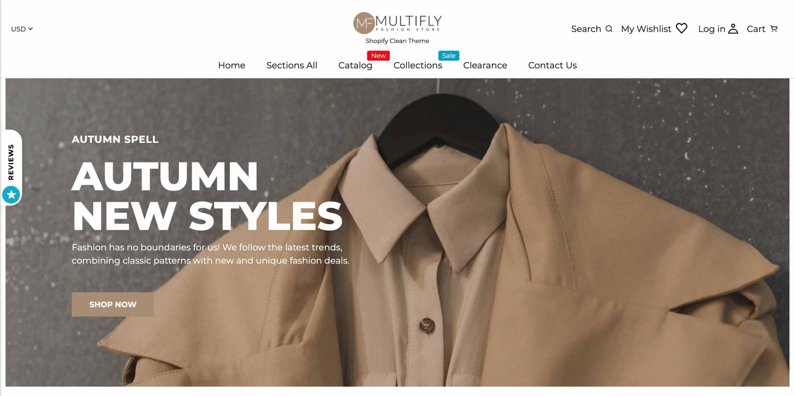 Multifly Shopify Clothing Theme