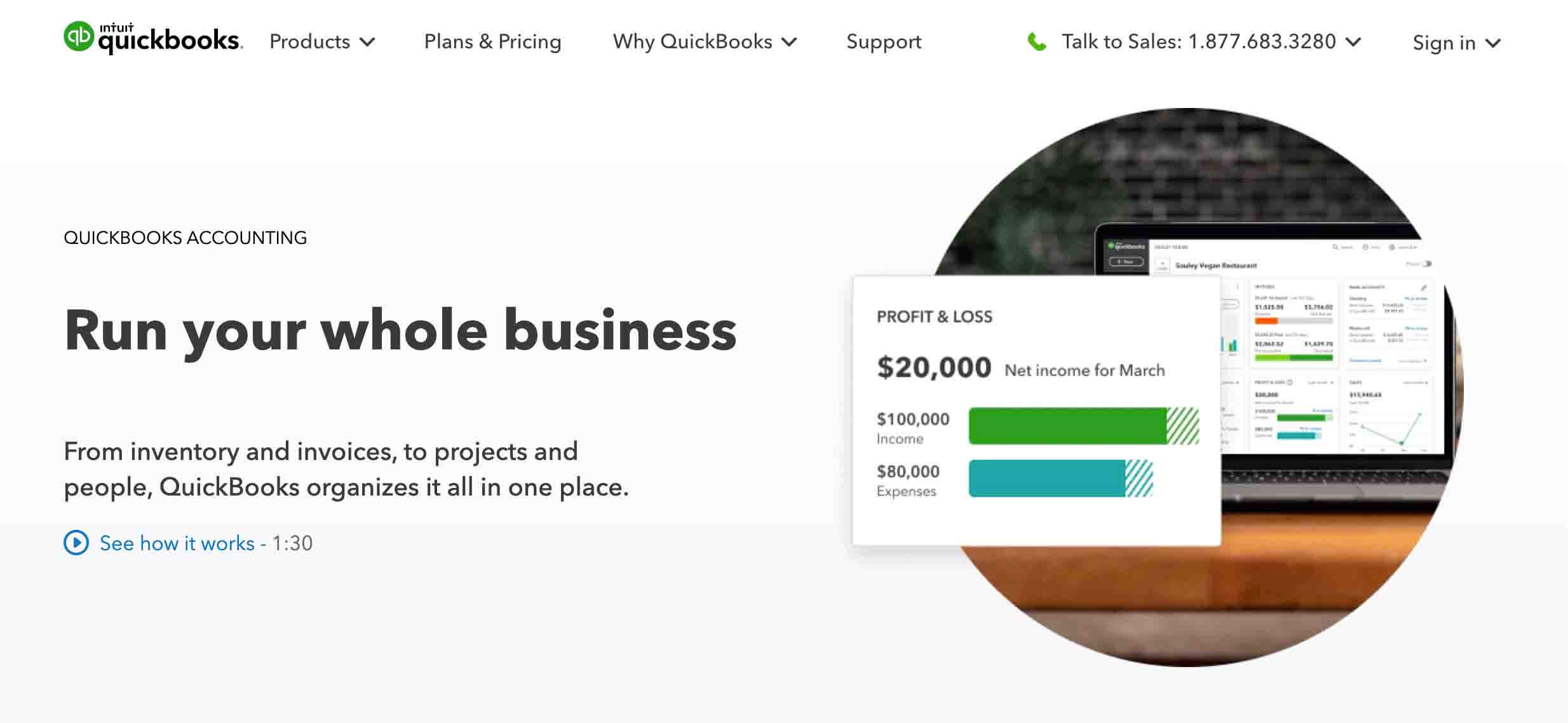 Quickbooks - Best Shopify Accounting App