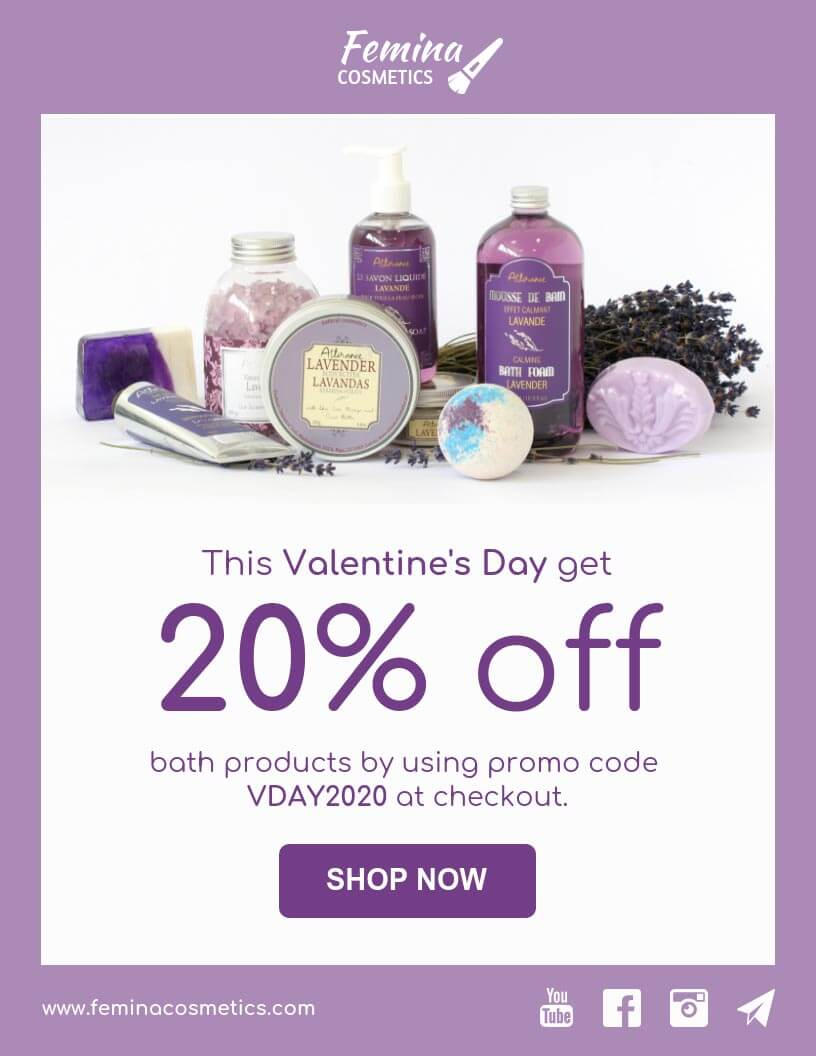 eCommerce valentines day offer