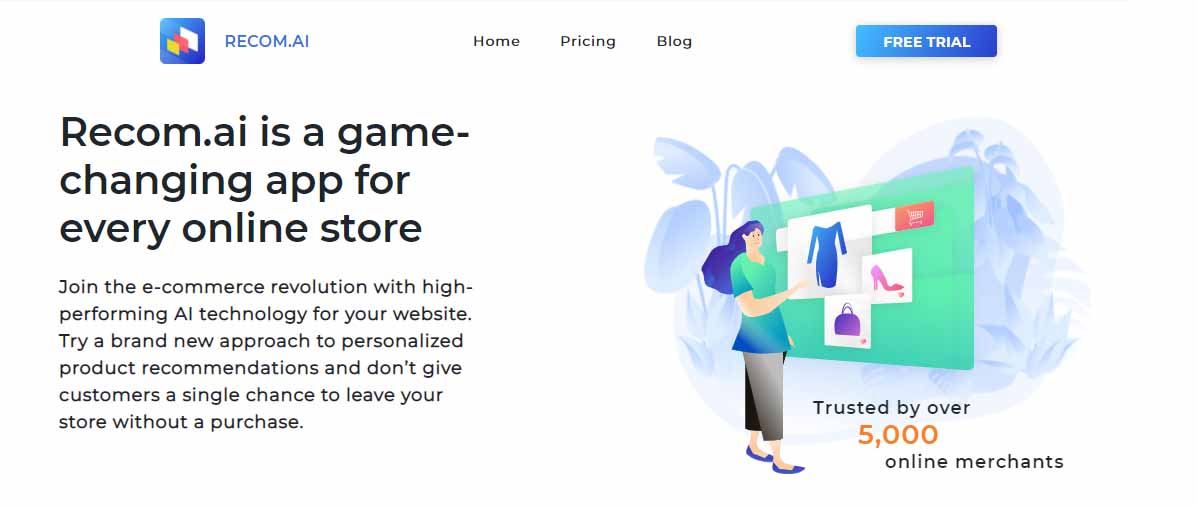 Recom.ai shopify app to boost sales