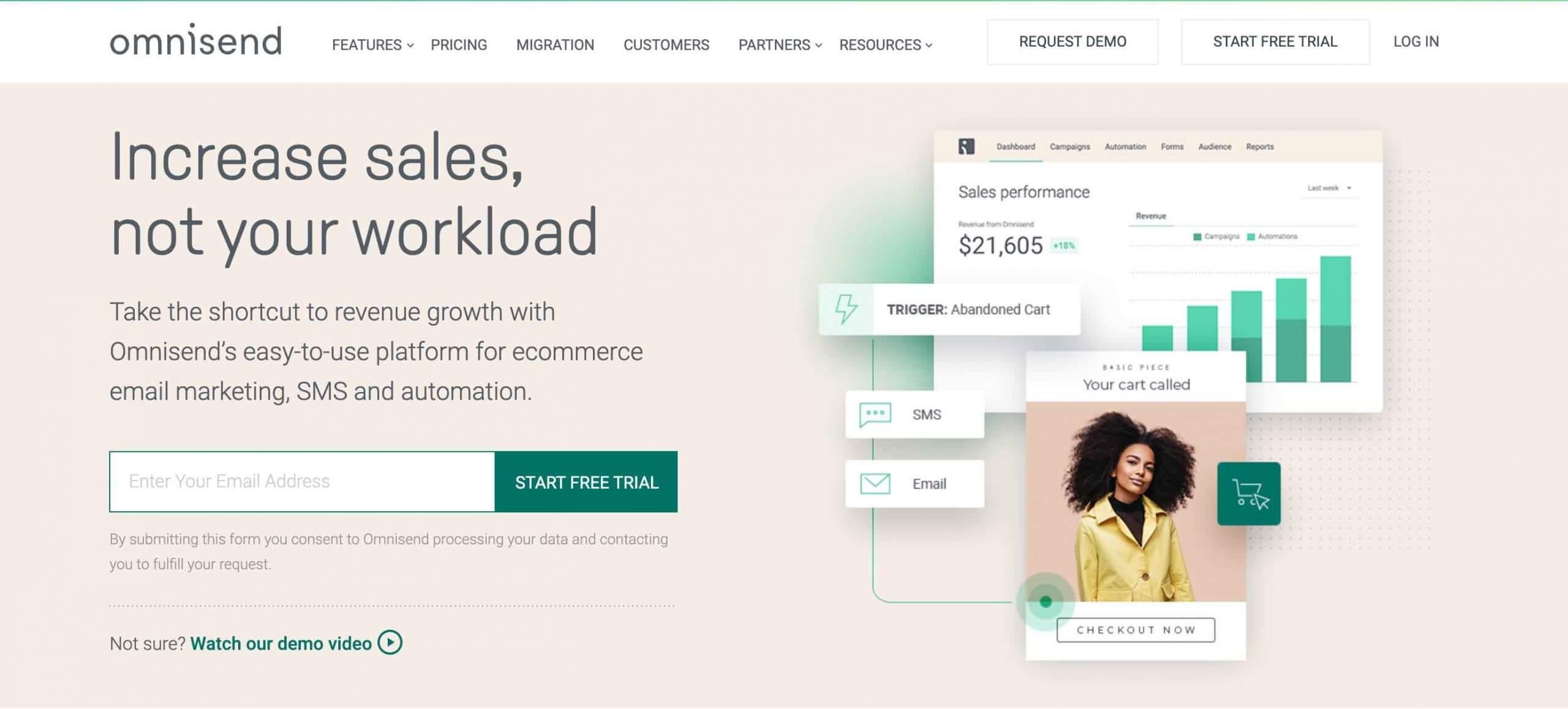 Omnisend - Ecommerce marketing automation software