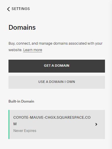 connect custom domain