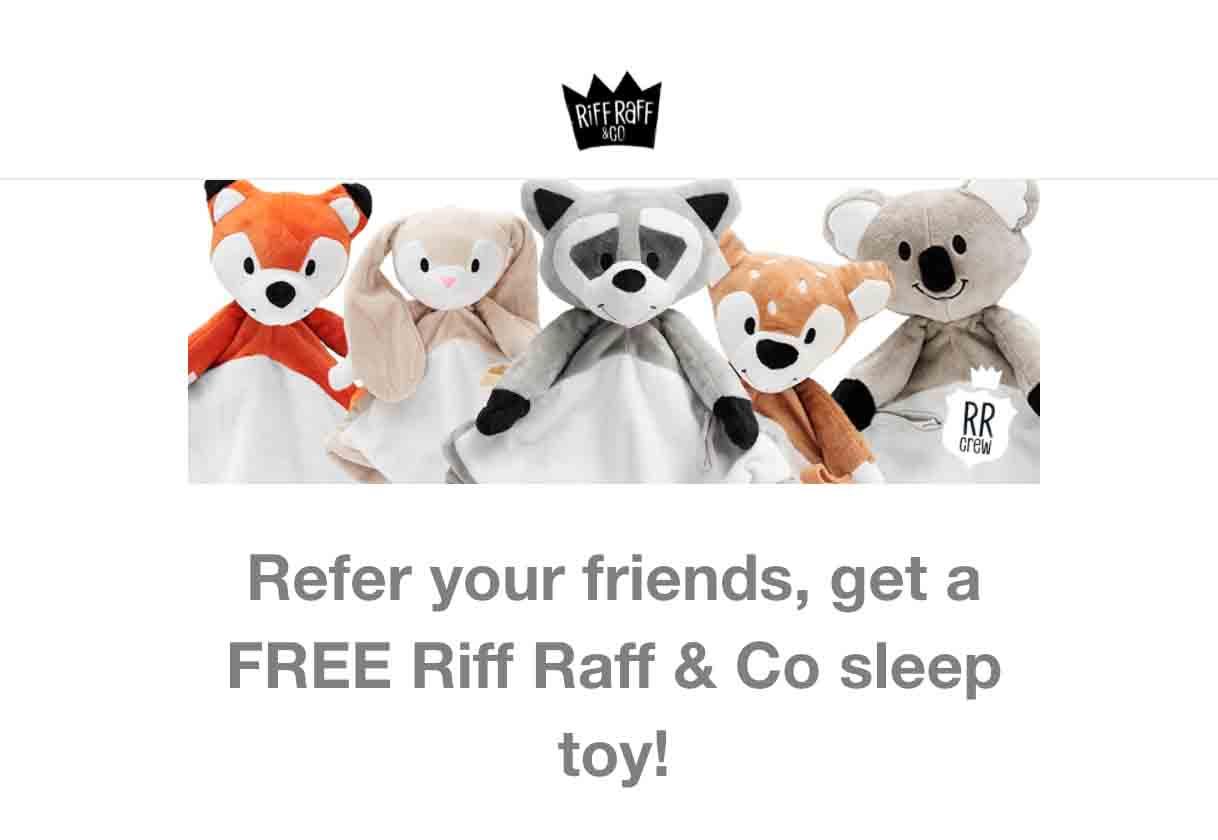 Riff Raff ecommerce referral program example