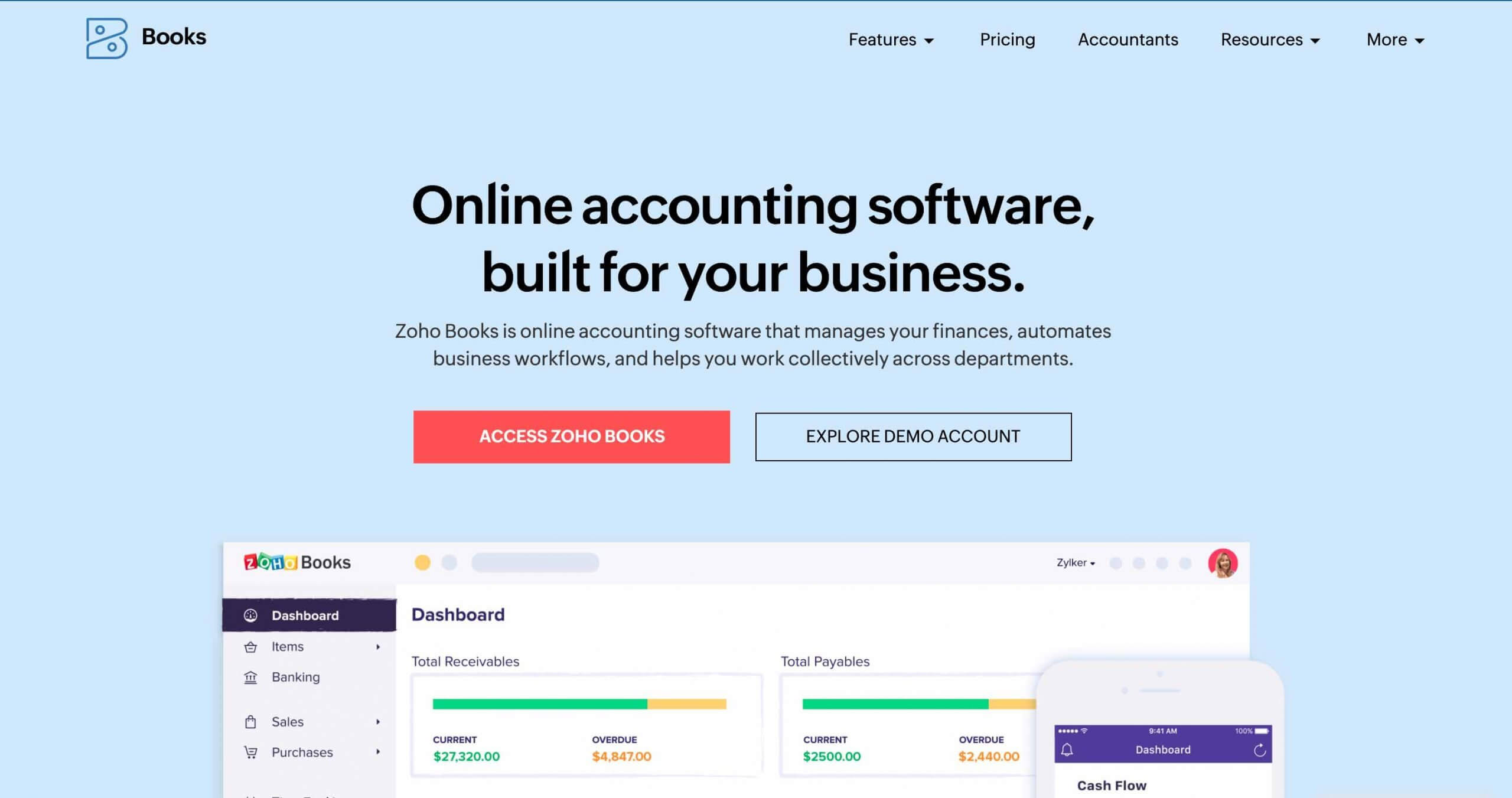Zoho Books - Shopify Accounting Software